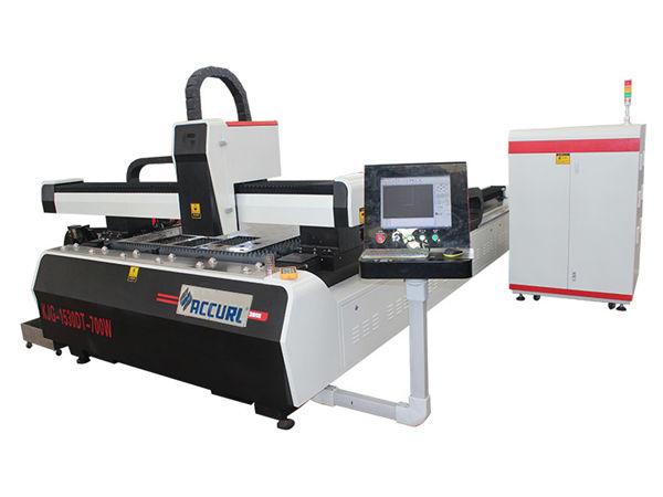 machine de découpage de laser de fibre de commande numérique par ordinateur de plat d'acier allié double efficacité élevée d'entraînement